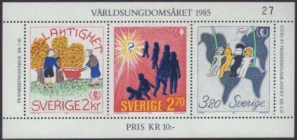Schweden - postfrisch - Block 13 - Jahr der Jugend 1985