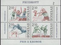Schweden - postfrisch - Block 14 - Leichtathletik 1986