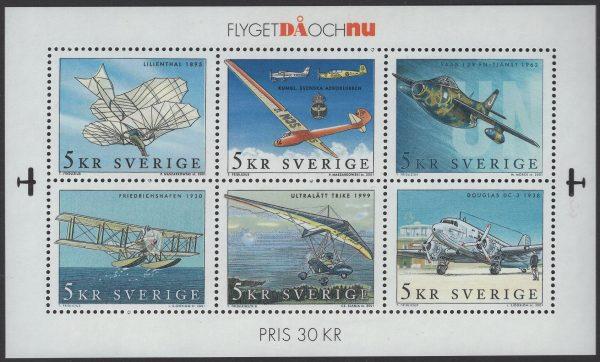 Schweden - postfrisch - Block 16 - Luftfahrt 2001