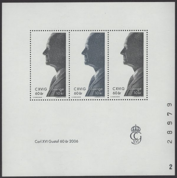 Schweden - postfrisch - Block 22 - 60 Geburtstag Karl-Gustav 2006