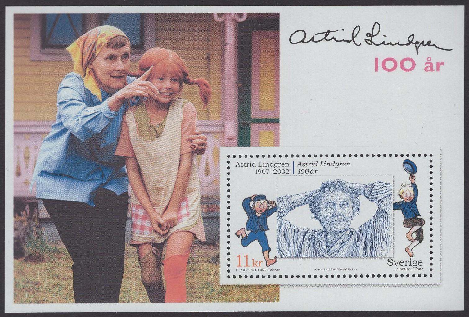 Schweden - postfrisch - Block 26 - Astrid Lindgren 2007