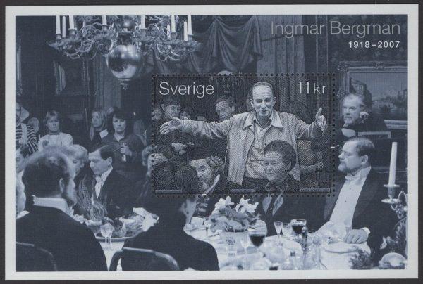 Schweden - postfrisch - Block 27 - 90 Geburtstag Ingmar Bergmann 2008