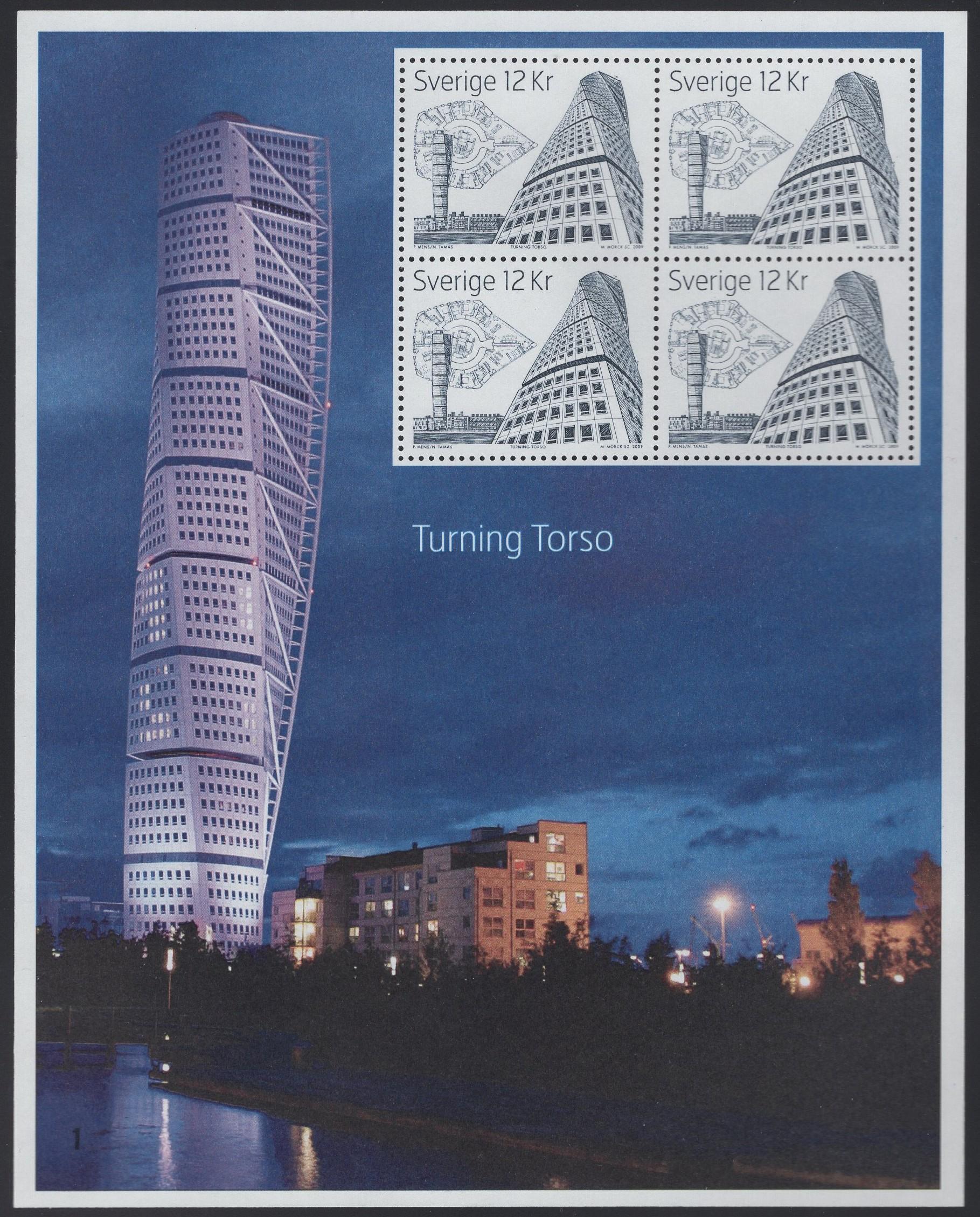 Schweden - postfrisch - Block 32 - Hohe Bauwerke