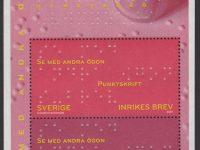 Schweden - postfrisch - Block 33 - Blindenschrift 2009