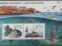 Schweden - postfrisch - Block 34 - Norden- Leben am Meer