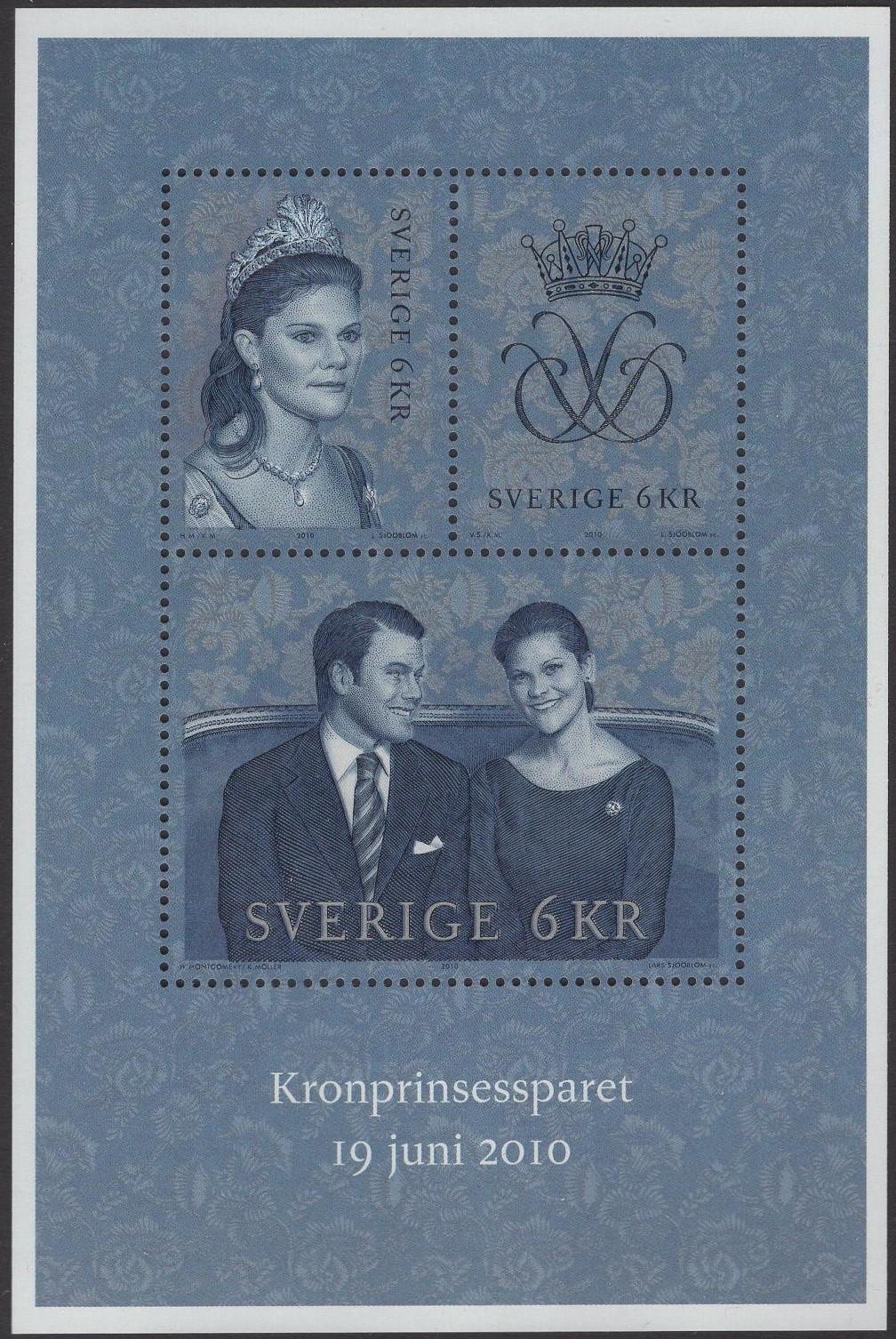 Schweden - postfrisch - Block 35 - Hochzeit Victoria 2010