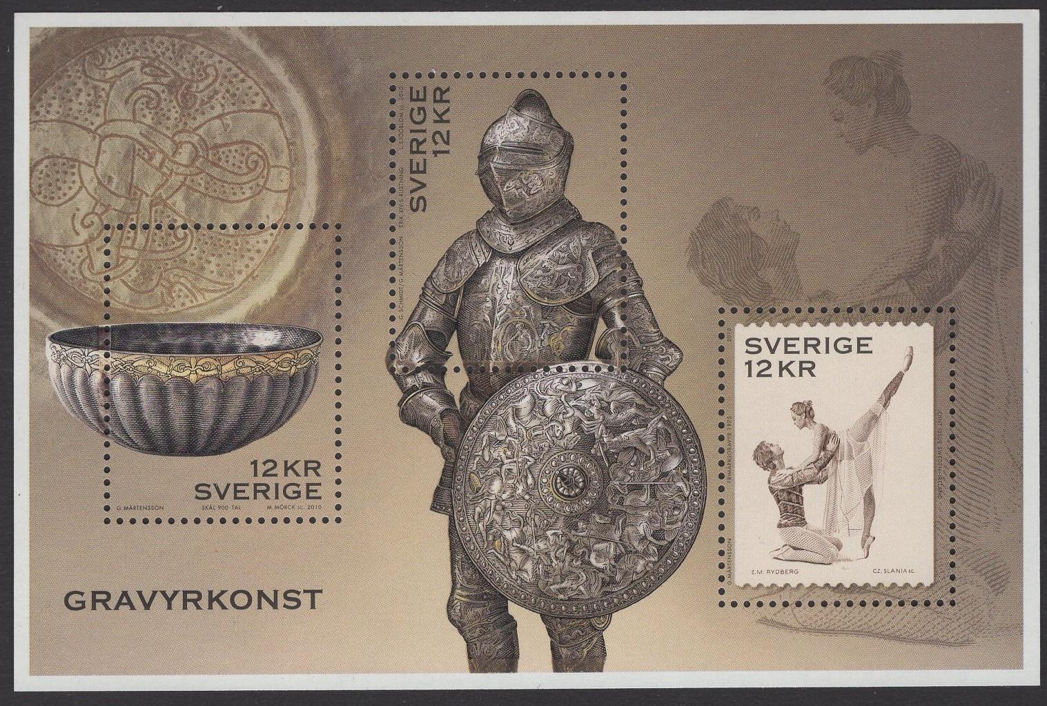 Schweden - postfrisch - Block 36 - Kunst der Gravur 019