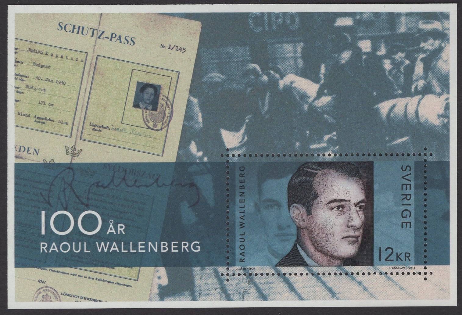 Schweden - postfrisch - Block 41 - Raoul Wallenberg