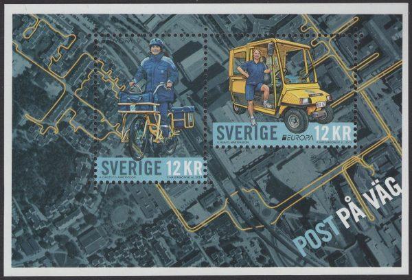 Schweden - postfrisch - Block 43 - Postfahrzeuge 2013