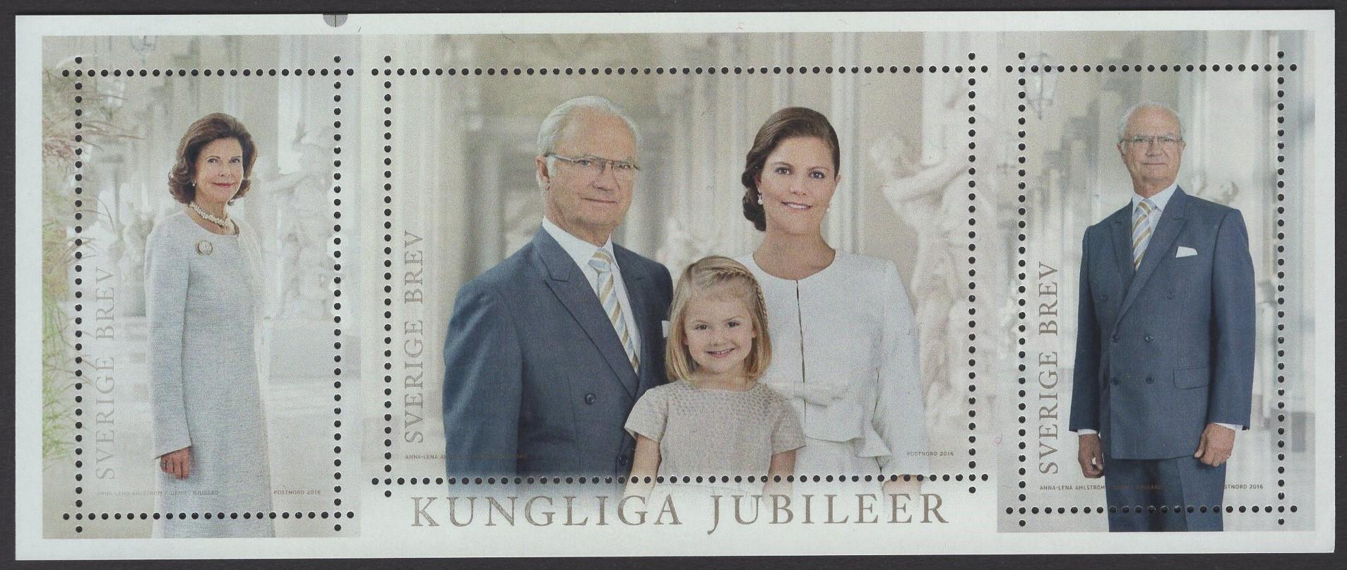 Schweden - postfrisch - Block 52 - 70 Geburtstag König Carl-XVI Gustav 2016