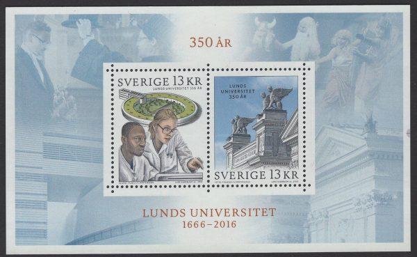 Schweden - postfrisch - Block 53 - 350 Jahre Universität Lund 2016
