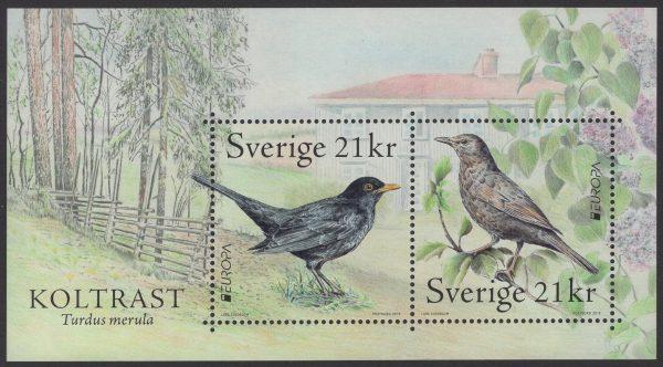 Schweden - postfrisch - Block 59 - Europa Einheimische Vögel 2019