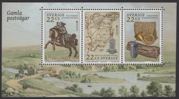Schweden - postfrisch - Block 60 - Europa Historische Postfahrzeuge