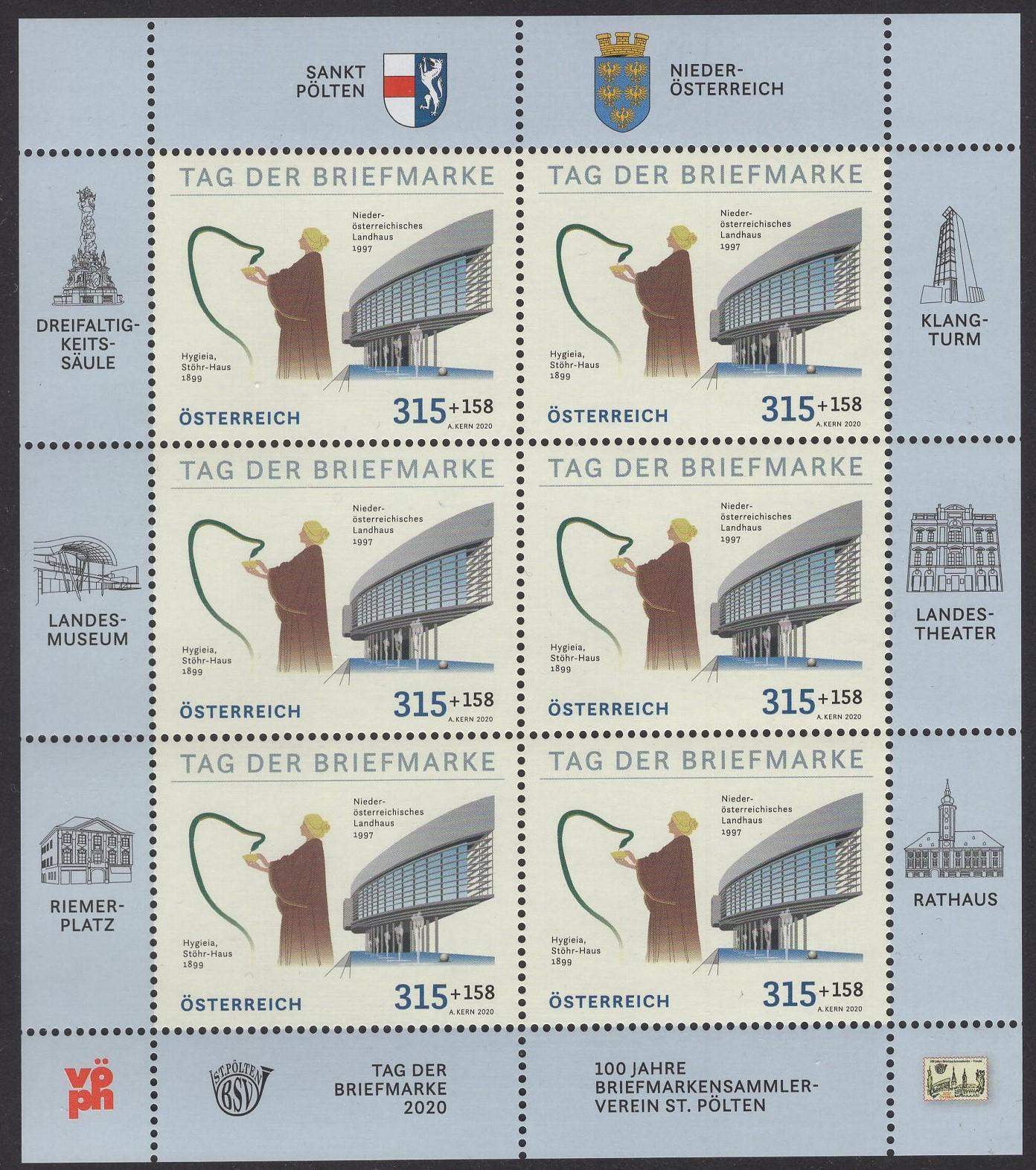 Österr KLBG Tag der Briefmarke 2020 Michel-Nr 3558