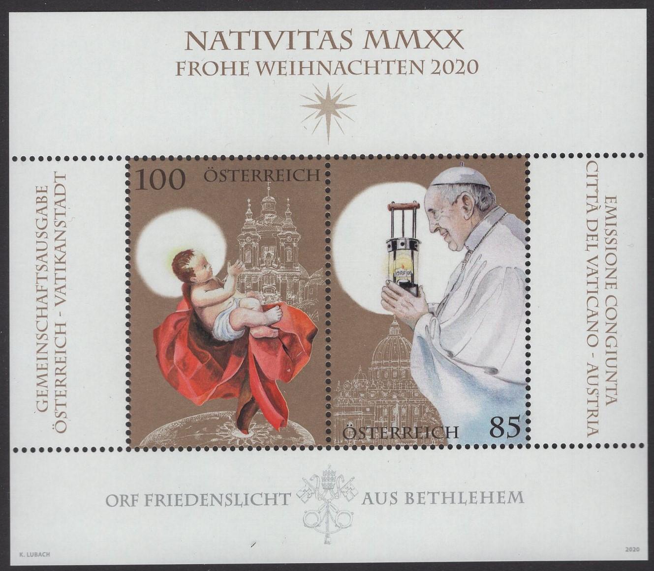 Österreich - Block 120 - postfrisch - Weihnachten 2020